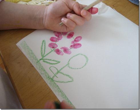 Thumbprint flower