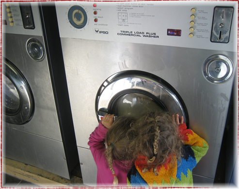 girls washing