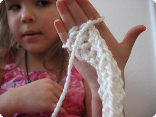 apprendre a tricoter avec ses doigts